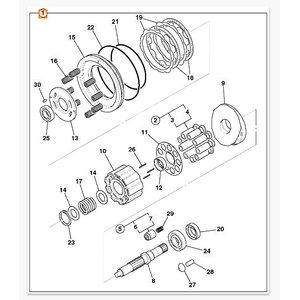 Hydraulic engine repair kit  8080, JCB