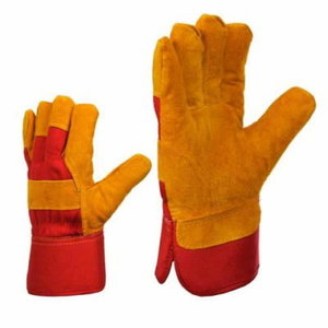 Gloves, cowhide, cotton back, 11