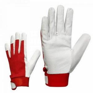 Gloves goatskin leather velcro 12 12, Stokker
