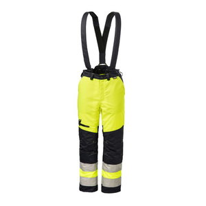 Cut protection trousers,HV-yellow/dark blue 64, , Dimex