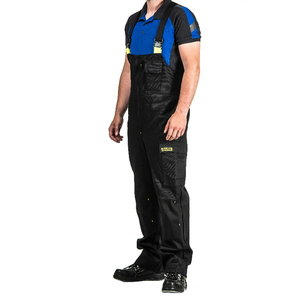 Bib-trousers for welders Stokker Special black/yellow L, Dimex