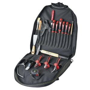 Įrankių krepšys BASIC PLUS 1000 V 19 pcs, Haupa