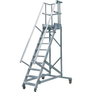 Mobile stocker's ladder 60°, 16 steps 4m, Hymer