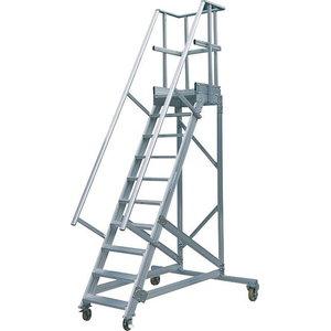 Mobile stocker's ladder 60°, 16 steps 4m, Hymer
