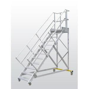 Mobile stocker's ladder 45°, 12 steps 2,52m, Hymer