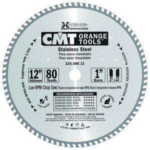 SAW BLADE FOR STAINLESS STEEL HW 305X2,2/1,8X25,4 Z80 FWF, CMT