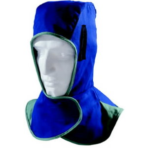 Blue hood, flame retardant, Weldas