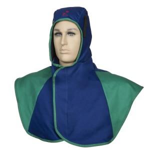 Blue hood, flame retardant long verion, Weldas