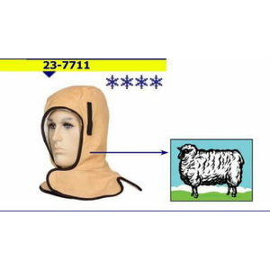 Liner for head and neck protection for severe cold, Weldas