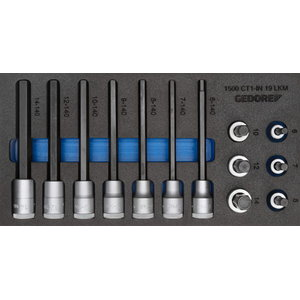 Tool module with tools 1500 CT1-IN 19 LKM, Gedore