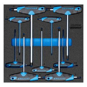Sešstūra muciņatslēgas komplekts 1500 CT2-DT 42, Gedore