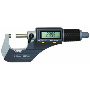 """Digital micrometer 0-25mm/0-1"""" IP40 DIN863, Vögel"""