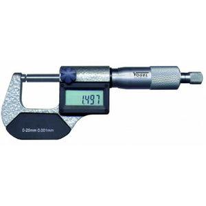 Ārējais mikrometrs IP54 DIN863 0-25mm/0,001mm, Vögel