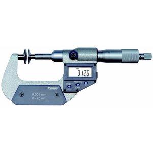 Digital Micrometer DIN 863, IP40, 0 - 25 mm / 0 - 1 inch, Vögel