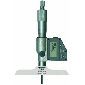 Digital Depth Micrometer, IP54,  0 - 50 mm / 0 - 2 inc, Vögel