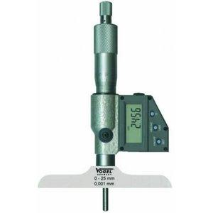 Skaitmeninis gylio mikrometras, IP54,  0 - 50 mm / 0 - 2 inc, Vögel