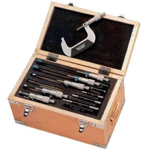 Išorinių mikrometrų komplektas DIN 863 0-300mm, Vögel