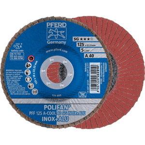 Lameļu slīpdisks 125mm P40 A-COOL SG INOX+ALU PFF, Pferd