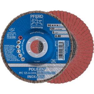 Lameļu slīpdisks 125mm P80 A-COOL SG INOX+ALU PFC, Pferd