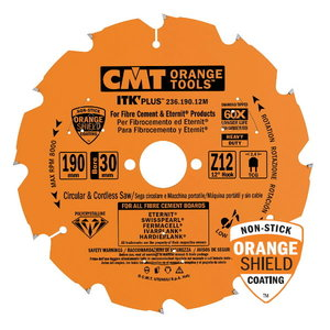 SAW BLADE FOR FIBROCEMENT DP 250X2.1-2.2X30 Z=16 CONICAL, CMT