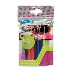 Glue sticks coloured 7x100mm 20pcs, Rapid