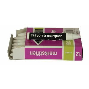 Greased marking chalk 100x9,5 mm, white, Vlamboog