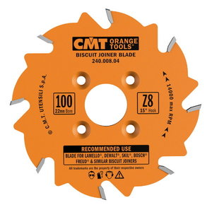 Diskas frezavimo 100X3.96X22 Z6 ATB, CMT