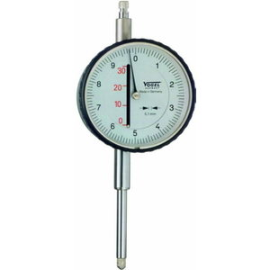 Indikatoriaus laikrodis 0-30x0,1mm ø 58mm, su linijine skale, Vögel