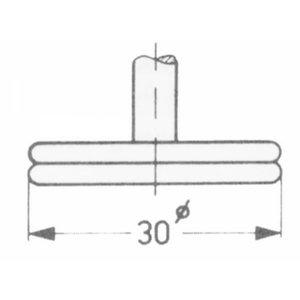Thickness dial gauge 0-30mm 0,1mm probe A, Vögel