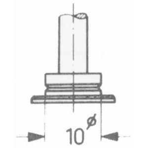 Thickness dial gauge 0-30mm 0,1mm probe C, Vögel