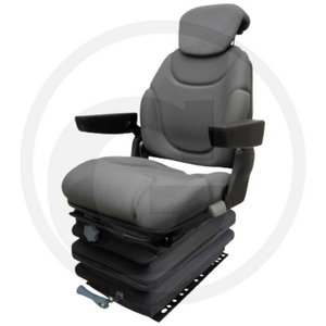 Seat hydraulic GRANIT,  with headrest, fabric cover grey, Granit