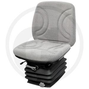 Seat, fabric cover, grey, Granit