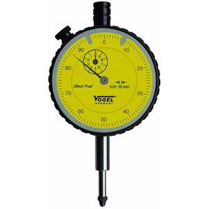 Indikatoriaus laikrodis 0-10x0,01 mm, ø 60 mm, Vögel