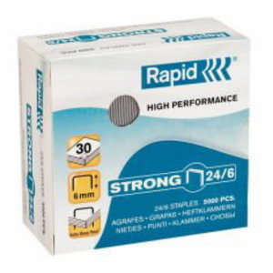 Strong staples 24/6 5000pcs, Rapid
