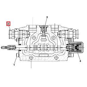 Vožtuvas hidraulinės sistemos, slėgio sumažinimo, pagrindini, JCB