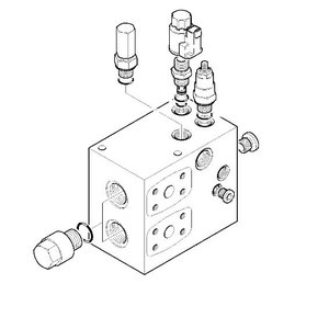 Priority dual valve, JCB