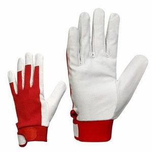 Gloves, goat leather, cotton handback, fleece lining, winter 9, Stokker