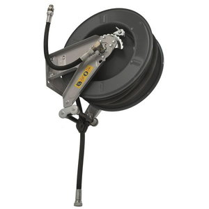 Hose reel open, 1/2´´x20m, oil/grease/air/water, gray, Orion