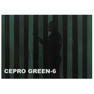 Welding curtain strip 300x2mm (roll 50m), green-6 Cepro, Cepro International BV