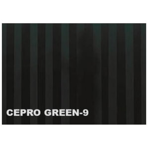 Welding curtain strip 300x2mm, dark green-9 Cepro, Cepro International BV