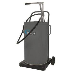De-Lux mobile oil dispenser 60L, with hand pump