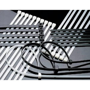 Dirželis kabelio tvirtinimui 250x4,8 juodas 100 vnt., Haupa