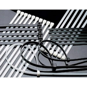 Dirželis kabelio tvirtinimui 302x4,8 juodas 100 vnt., Haupa