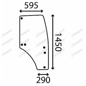 DOOR WINDOW RIGHT - CURVED - TINTED R198625, Bepco