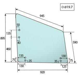 DOOR GLASS LEFT AZ57506, Bepco
