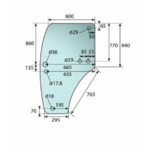 Glass DOOR LH - 6 HOLES R198624, Bepco