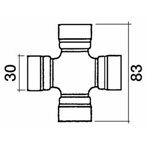 Kardaanirist 83X30, Bepco