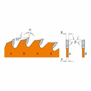 Saeketas puidule 165x1,7/20 Z24 18°, CMT