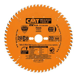 ITK PLUS FINISH SAW BLADE HW 160X1.7X20(+16) Z=40 ATB+SHEAR, CMT