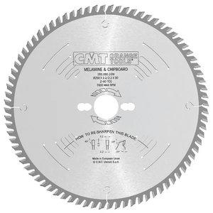 Zāģripa asmens laminātam 250x30mm Z80 a 10° b TCG, CMT
